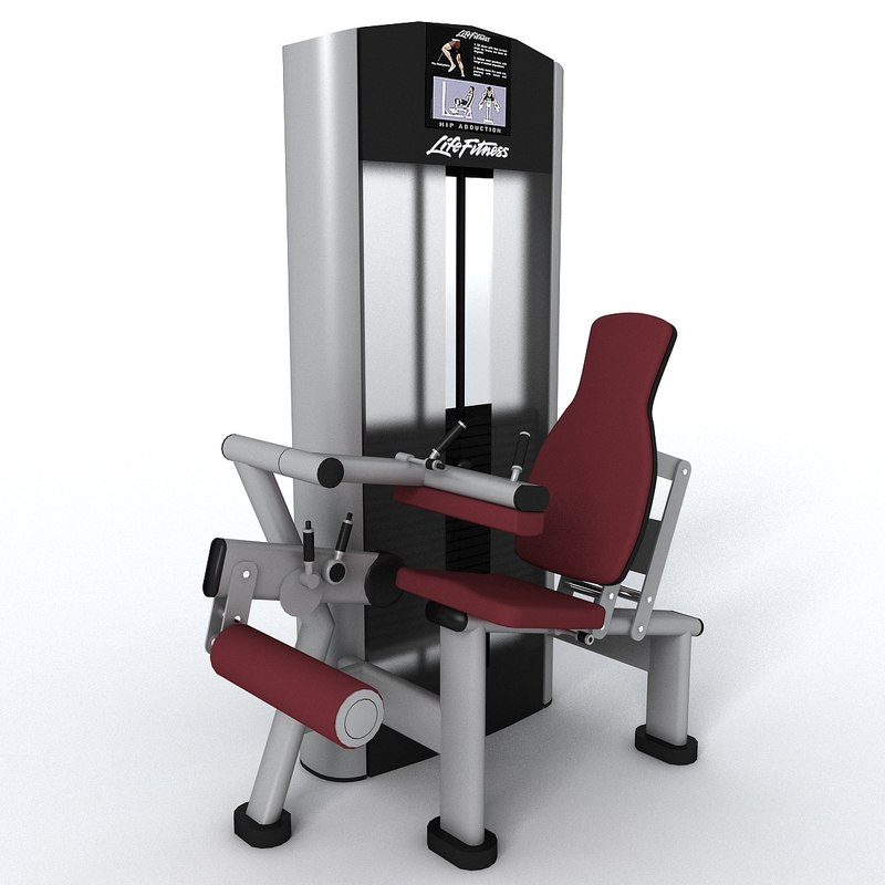 gym leg curl 3d model