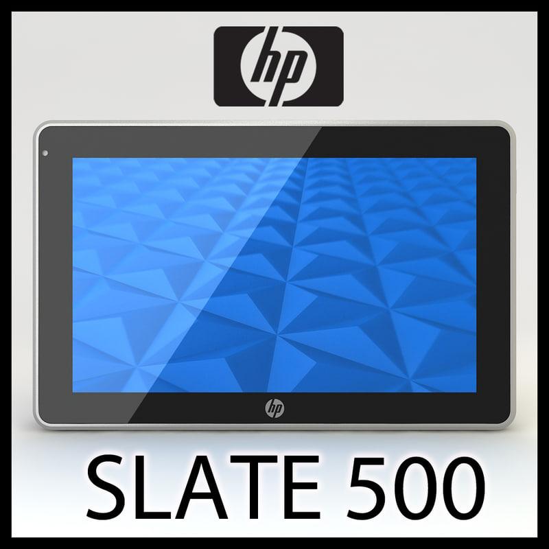 hp slate 500 3d 3ds