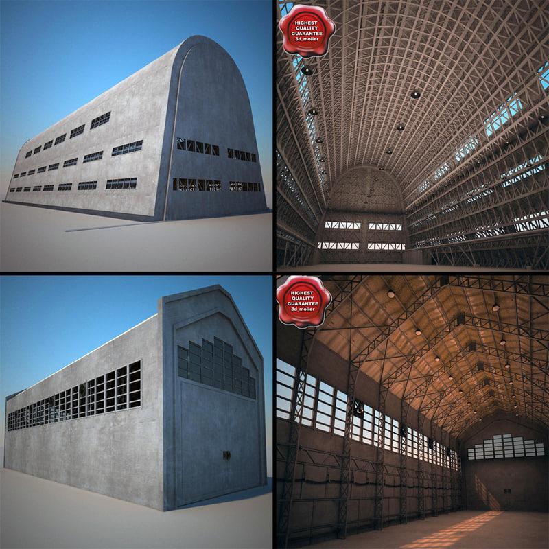 hangars v1 3d max
