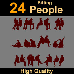 maya human silhouettes