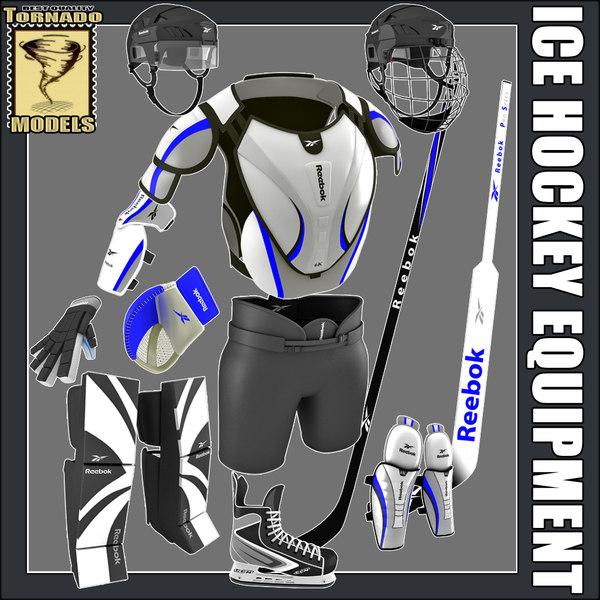 3dsmax ice hockey equipment