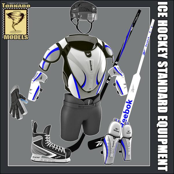 ice hockey equipment standard 3d 3ds