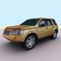 3d 2010 land rover freelander model