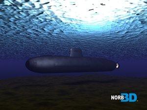 3d model nuclear submarine