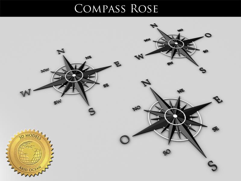 compass rose 3 languages obj