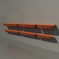 3d model crown ledge shelf