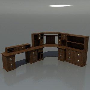 3d model bedford desk set