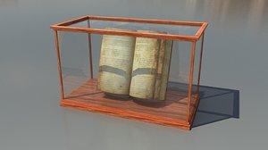 antique book display case 3d max