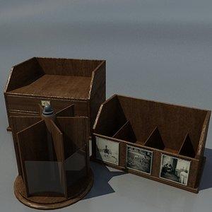 bedford desk accessories 3d 3ds