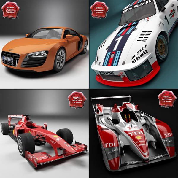 3d racing cars v2 model