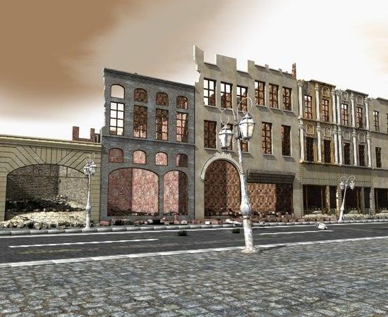 ruin street 3d model