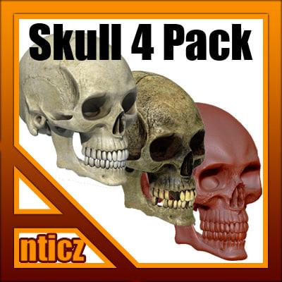 skull pack 3d model