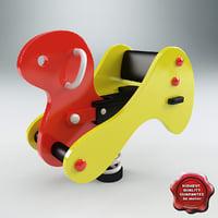 3d model spring swing duck