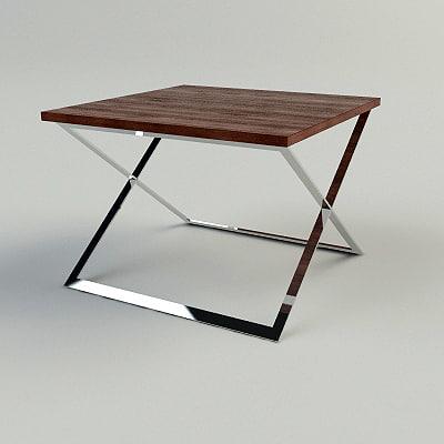 maya contemporary end table -