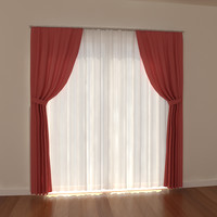 curtain light 3d model