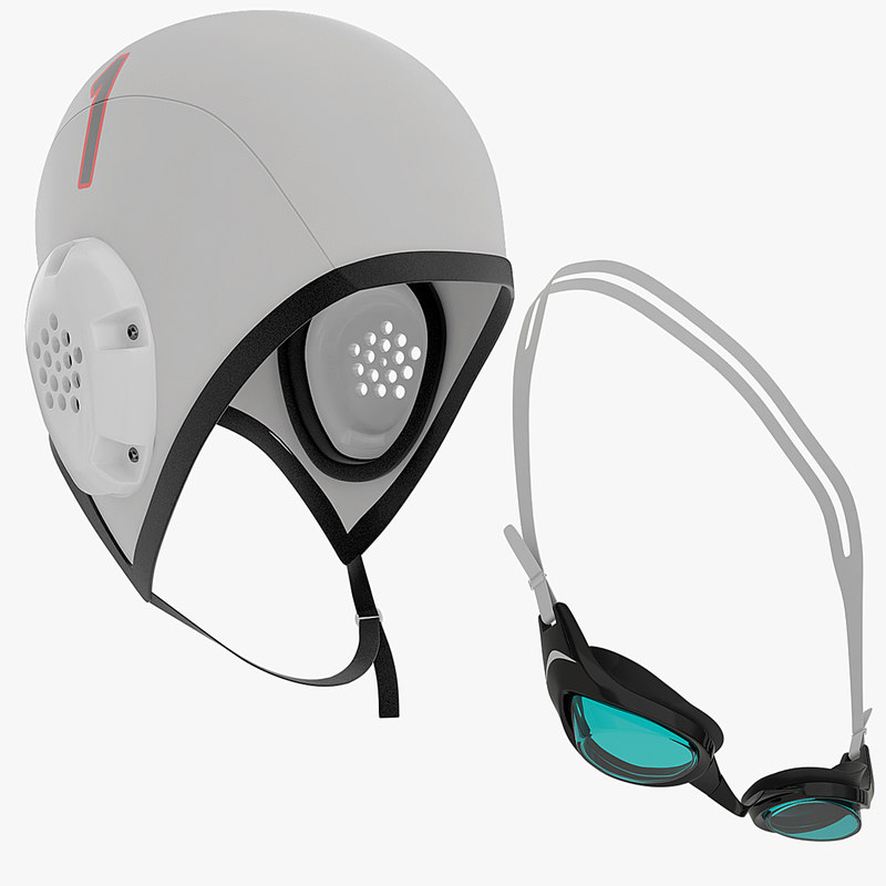 cap swimming goggles obj
