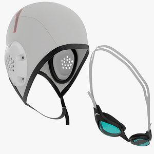 cap swimming goggles obj