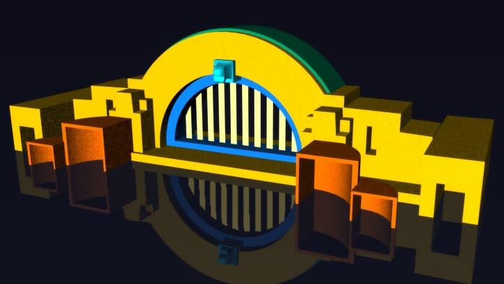 gate ferris 3d model