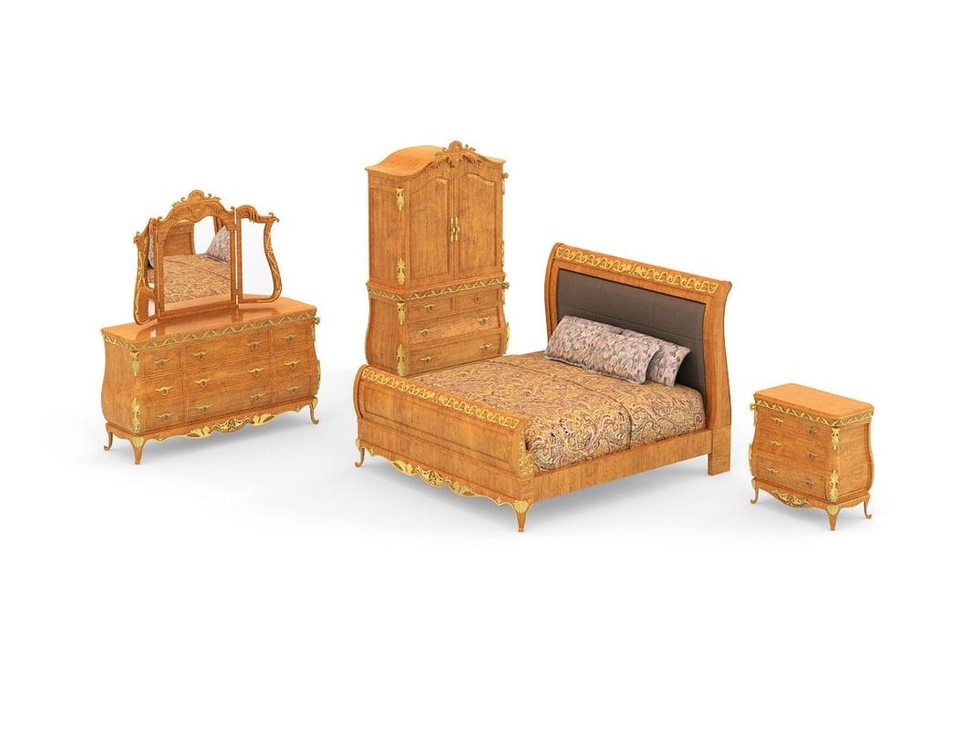 3d bedroom set - versailles