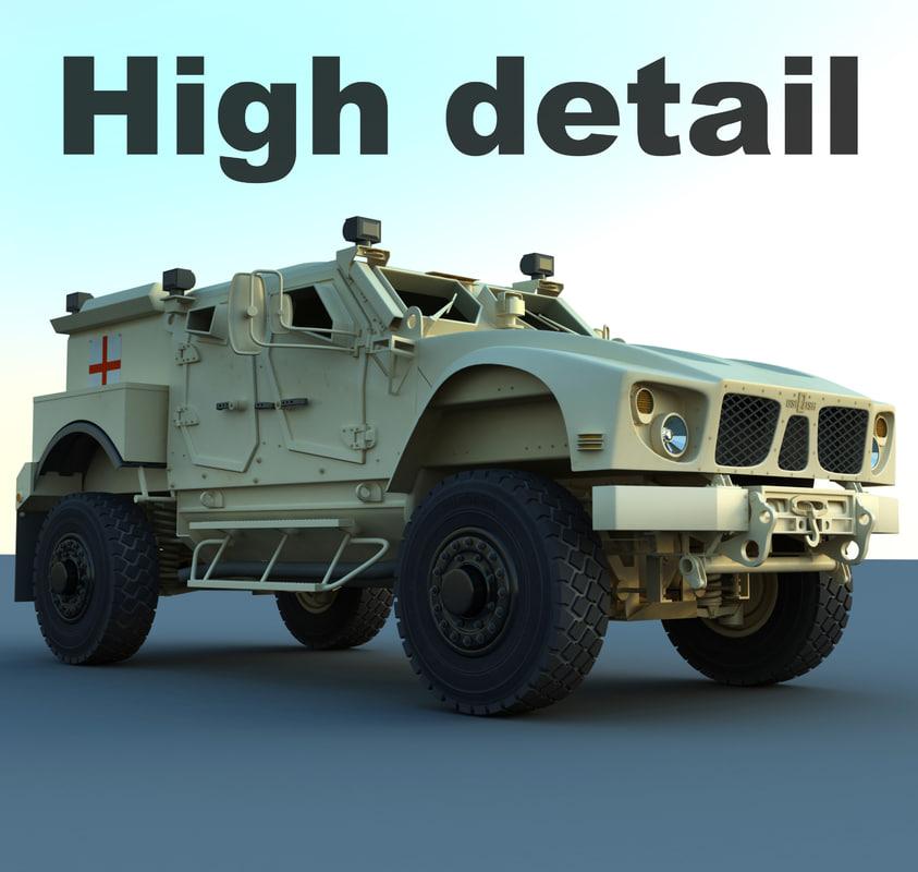 3d m-atv military ambulance model