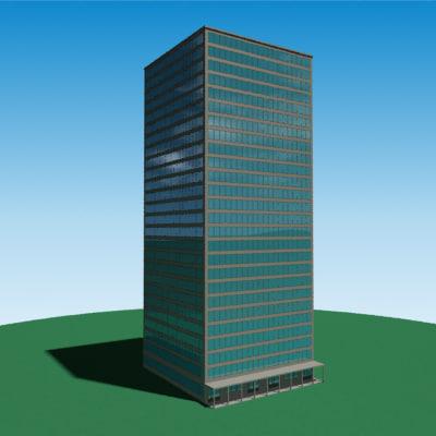 3d realistic skyscraper model