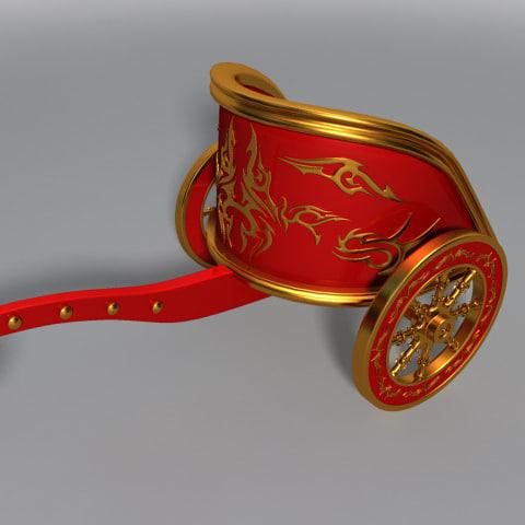 3d roman war chariot