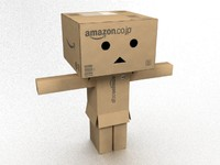 danbo - character cardboard boxes 3d model