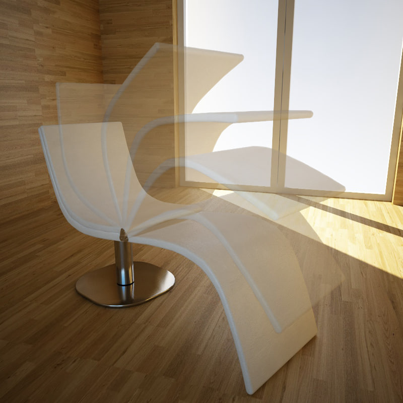 chair chaise dragonfly bonaldo 3d model
