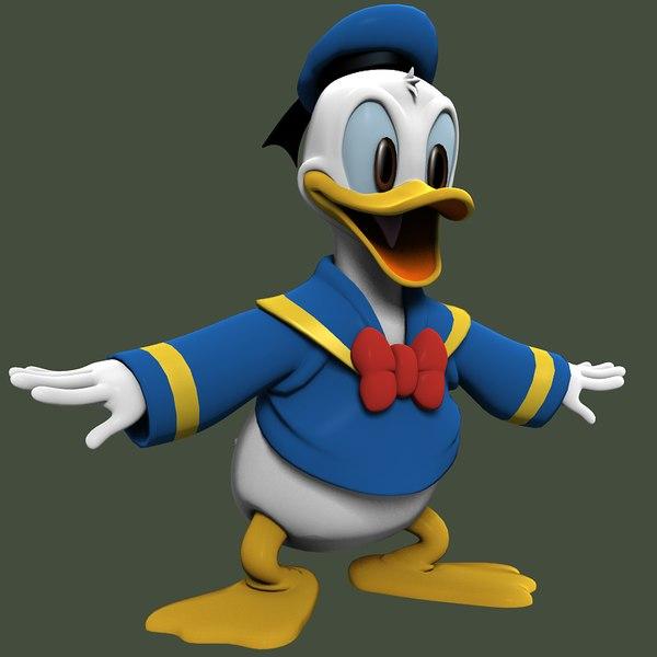 3d donald duck