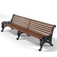 garden park bench classic forged  form banquette sette