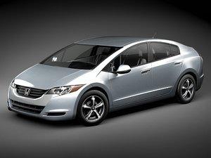 3d honda fcx clarity car model