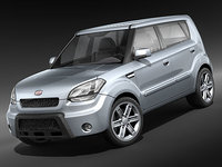 kia soul city car 3d model