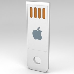3d model apple macbook air usb