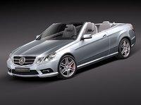 3d model mercedes e class convertible
