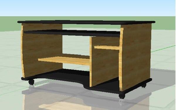 desk studying 3d model