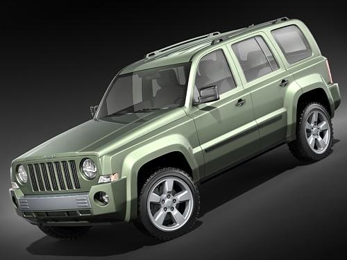 3d model of jeep patriot liberty suv