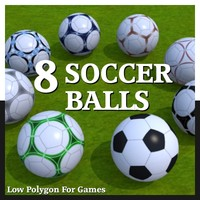 3d soccer ball 8 model