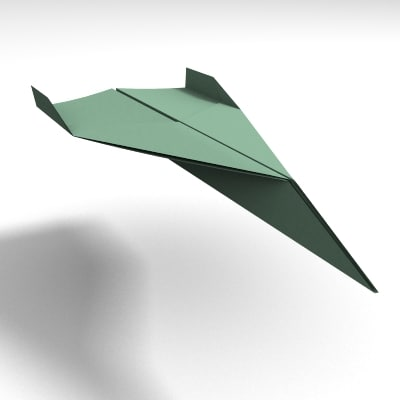 3d paper airplane