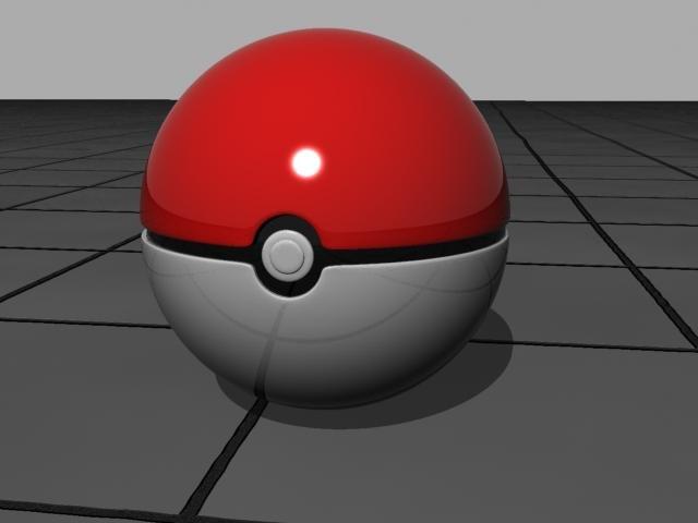3d model pokeball pokemon