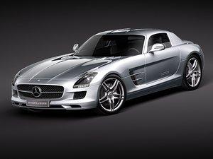 3d mercedes-benz sls amg model