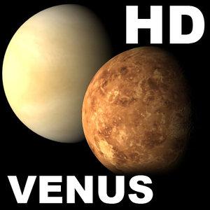 venus planet incredible hd 3d max