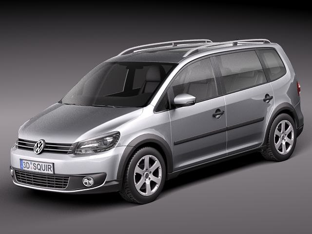 obj volkswagen touran van cross