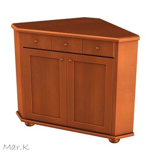 3d corner chest model