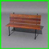 3ds max street bench