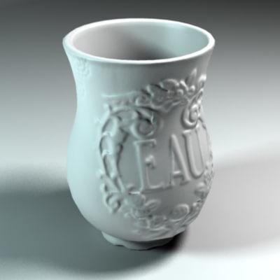 realistic ceramic vase flower pot max