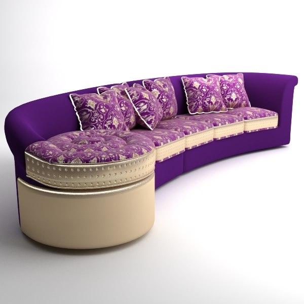 3d italian designer sofa