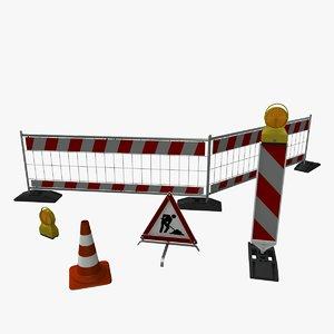 3d obj construction lot