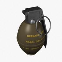 3d hand grenade
