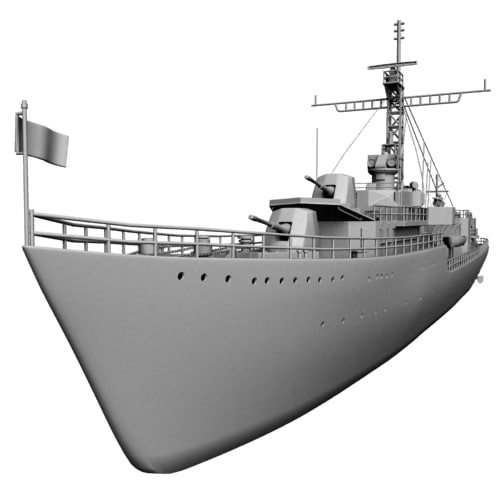 3d ww2 destroyer