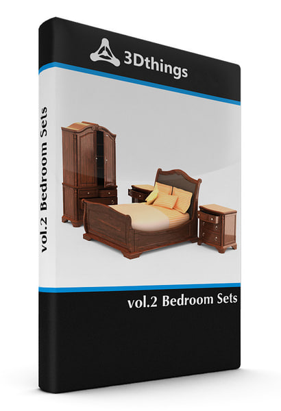 bedroom sets 3d max